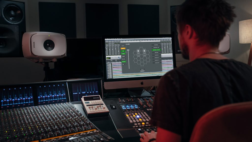 Genelec GLM software in use